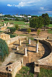 Ruinas de los chalets romanos en Carthage Imagen de archivo