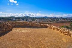 Ruinas de los ibéricos en Vallesa de Paterna fotografía de archivo libre de regalías