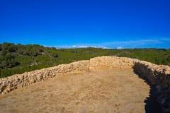 Ruinas de los ibéricos en Vallesa de Paterna Foto de archivo