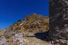 Ruinas de los molinoes de viento encient construidos en siglo XV imagen de archivo libre de regalías