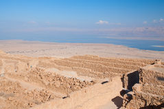 Ruinas de Masada Fotografía de archivo