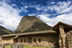 Ruinas de Ollantaytambo, en el valle sagrado fotografía de archivo