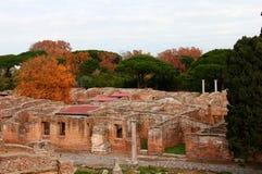 Ruinas de Ostia Antica Foto de archivo