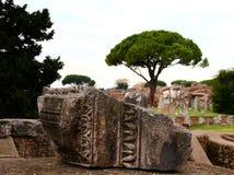 Ruinas de Ostia Antica Fotos de archivo libres de regalías