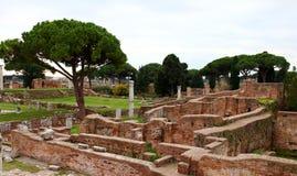 Ruinas de Ostia Antica Foto de archivo libre de regalías