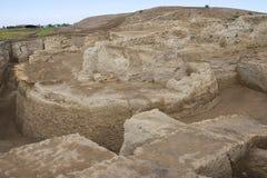 Ruinas de Otrar (Utrar o Farab), pueblo fantasma asiático central, provincia del sur de Kazajistán, Kazajistán foto de archivo