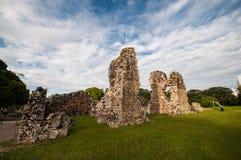 Ruinas de Panamá vieja fotografía de archivo