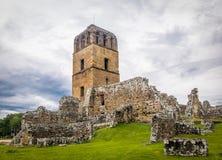 Ruinas de Panamá Viejo - ciudad de Panamá, Panamá foto de archivo