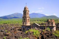 Ruinas de Paricutin Foto de archivo libre de regalías