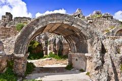 Ruinas de Perge una ciudad de Anatolia antigua en Turquía Fotos de archivo libres de regalías