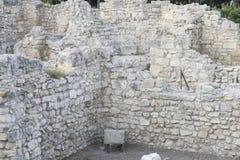Ruinas de piedra antiguas de Chersonesus Fotografía de archivo libre de regalías