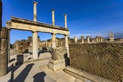 Ruinas de Pompeii, Italia fotografía de archivo