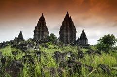 Ruinas de Prambanan Fotos de archivo libres de regalías