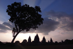 Ruinas de Prambanan, Java central, Indonesia Imagenes de archivo