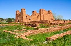 Ruinas de Quarai en el monumento nacional de las misiones del pueblo de las salinas imagen de archivo libre de regalías