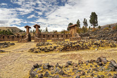 Ruinas de Raqchi, Cuzco, Perú Fotos de archivo
