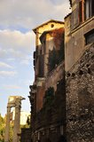 Ruinas de Roma antigua Imagenes de archivo