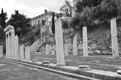 Ruinas de Roman Agora Fotografía de archivo