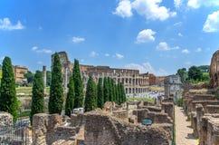 Ruinas de Roman Forum Imágenes de archivo libres de regalías