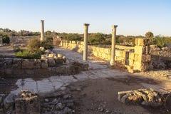 """Ruinas de Roman Salamis del †de Greco """"en Famagusta Chipre Foto de archivo libre de regalías"""