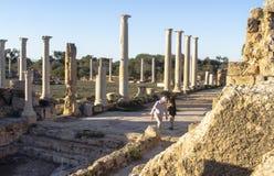 """Ruinas de Roman Salamis del †de Greco """"en Famagusta Chipre Fotos de archivo"""