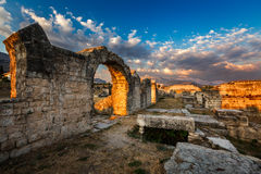 Ruinas de Roman Salona antiguo (Solin) cerca de la fractura, Dalamatia Fotografía de archivo libre de regalías