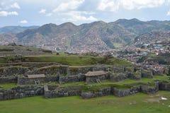 Ruinas de Sacsayhuaman, Cuzco, Perú Imágenes de archivo libres de regalías