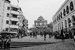 Ruinas de San Pablo Macao Imágenes de archivo libres de regalías