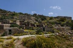 Ruinas de Spinalonga Imagenes de archivo