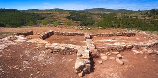Ruinas de Torrejon de Gatova de ibéricos en España fotos de archivo libres de regalías