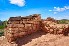 Ruinas de Torrejon de Gatova de ibéricos en España imágenes de archivo libres de regalías