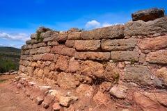 Ruinas de Torrejon de Gatova de ibéricos en España fotos de archivo