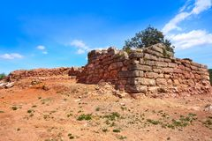 Ruinas de Torrejon de Gatova de ibéricos en España imagen de archivo