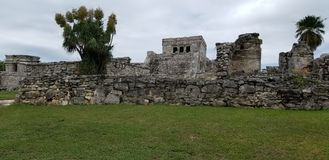 Ruinas de Tulum, Cancun imagen de archivo