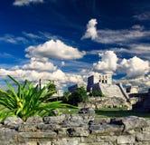 Ruinas de Tulum en el mundo del maya cerca de Cancun foto de archivo libre de regalías
