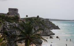 Ruinas de Tulum México Imágenes de archivo libres de regalías