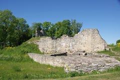 Ruinas de un castillo Imagen de archivo