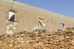 Ruinas de un cortijo de piedra abandonado Fotos de archivo