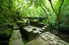 Ruinas de un molino viejo en el parque natural imágenes de archivo libres de regalías