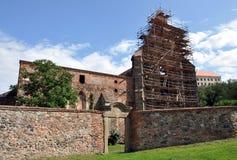Ruinas de un monasterio, Dolni Kounice, República Checa, Europa Foto de archivo