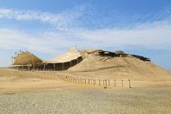 Ruinas de un sitio del pre-inca en el norte de Perú fotografía de archivo libre de regalías