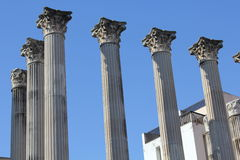 Ruinas de un templo romanas Royalty Free Stock Photo
