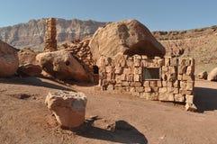 Ruinas de una casa en el desierto Foto de archivo libre de regalías
