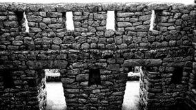 Ruinas de una casa en Machu Picchu Fotos de archivo libres de regalías