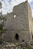 Ruinas de una casa veneciana antigua en el pueblo veneciano de Voila Crete Grecia fotografía de archivo