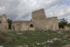 Ruinas de una casa veneciana antigua en el pueblo veneciano de Voila Crete Grecia imagen de archivo libre de regalías