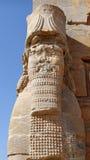 Ruinas de una estatua de Lamassu en Persepolis, Irán foto de archivo libre de regalías
