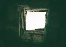 Ruinas de una fábrica grande vieja arruinada fotos de archivo libres de regalías