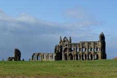 Ruinas de Whitby Abbey en Whitby, Inglaterra Foto de archivo