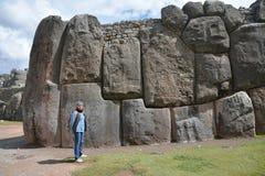 Ruinas de Wooman y de Sacsayhuaman, Cuzco, Perú Imágenes de archivo libres de regalías